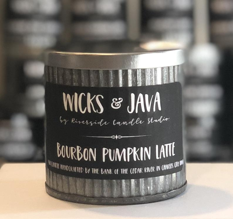 Bourbon Pumpkin Latte Rustic Candle - Charlie James & Company