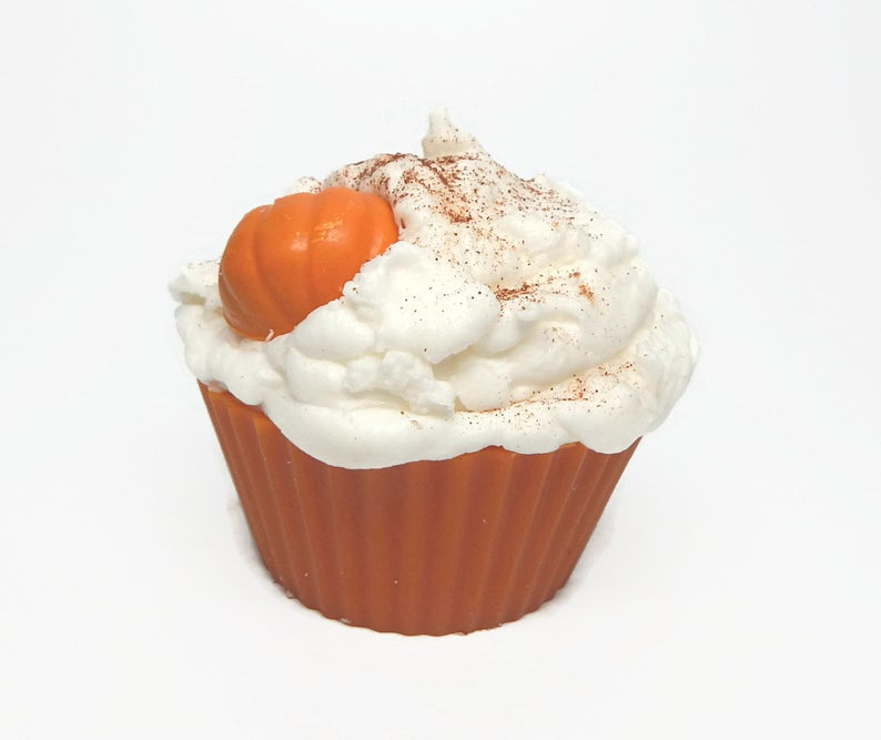 Pumpkin Pie Cupcake Candle