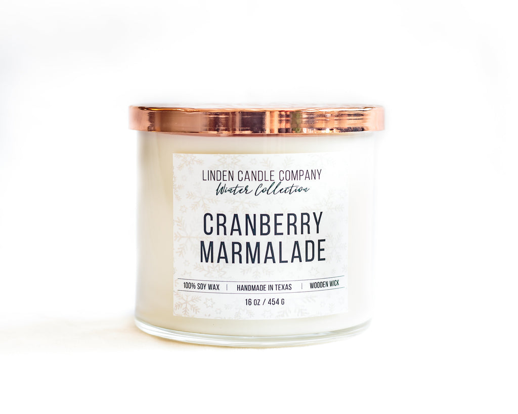 Cranberry Marmalade Wick Candle