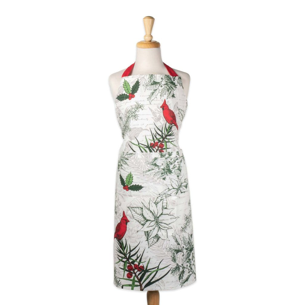 Holiday Botanical Chef's Apron - Charlie James & Company