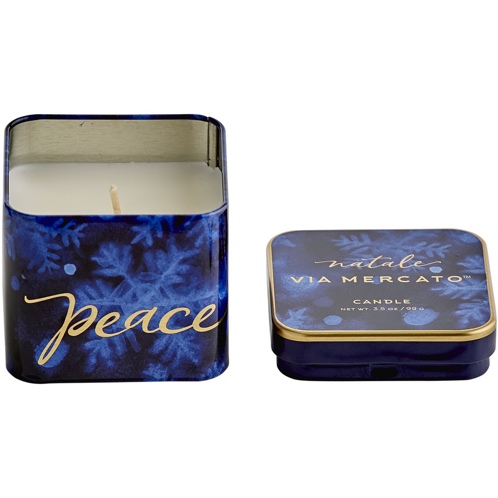 Peace Natale Holiday Candle - Charlie James & Company