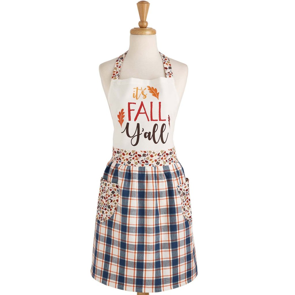 It's Fall Y'all Farmhouse Apron - Charlie James & Company