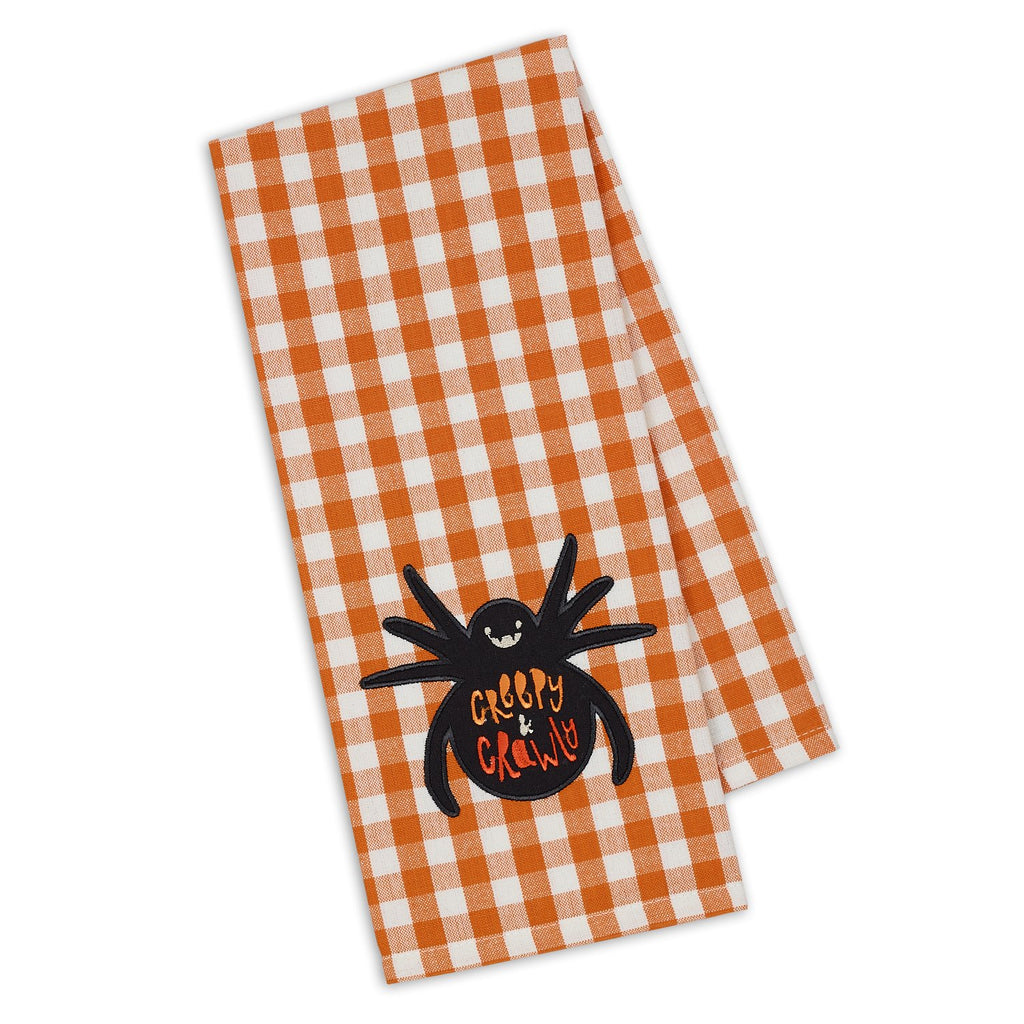 Spider Embellished Dishtowel