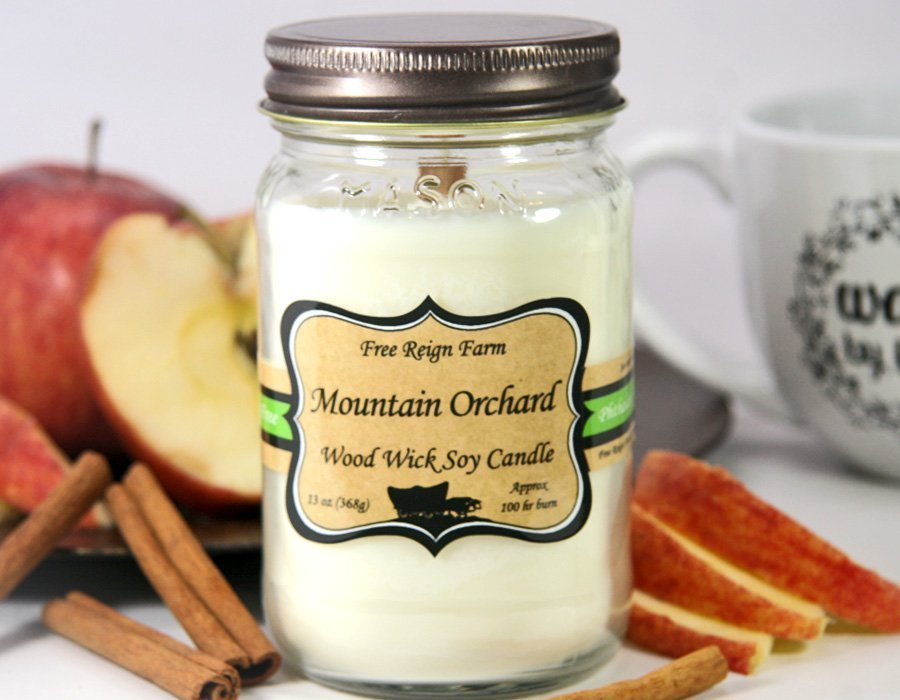 Mountain Orchard Wood & Cotton Wick Candle