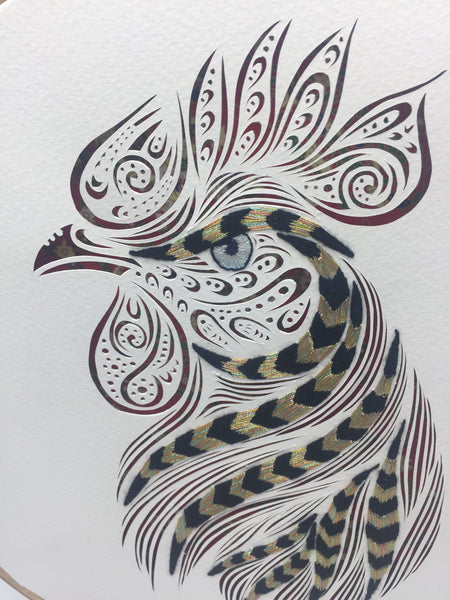 Rooster ( embroidery)