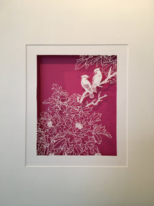 Peony & waxwing (not available now, only take order)