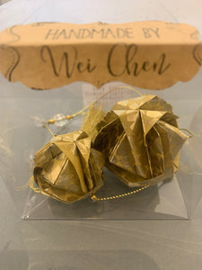 Origami flower ball mobile