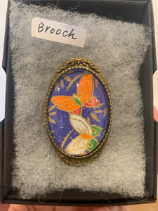 Brooch (chiyogami paper)