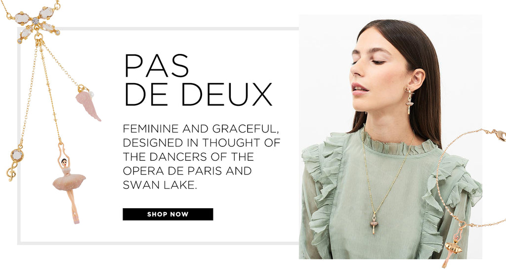 Pas de Deux. An iconic line of jewelry influenced by the Opera de Paris and dancers of Swan Lake.