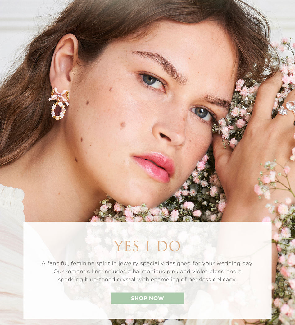 Shop our Yes I Do collection for a feminine spirit on your wedding day.