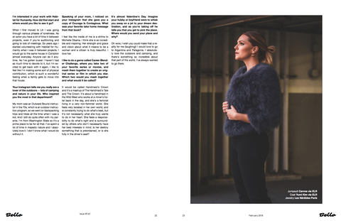 Actress Eloise Mumford in BELLO Magazine