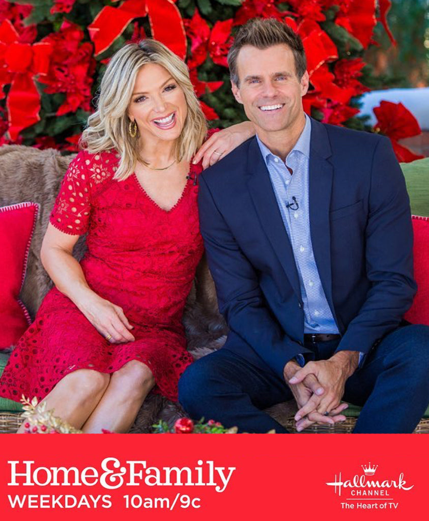 Debbie Matenopoulos via Home & Family TV wearing Les Nereides