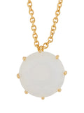 LA DIAMANTINE ROUND STONE OPAL WHITE NECKLACE