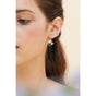 Dove and Peony on Faceted Glass Stone Clip-on Earrings Alternate View