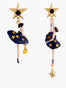 Pas de deux Asymmetrical Constellation Ballerina Stud Earrings