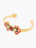 Indian Summer Indian Palm Pattern Bangle Bracelet - Multicolore