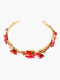 Sweet As A Rose Antique and Wild Roses Bangle Bracelet - Pink