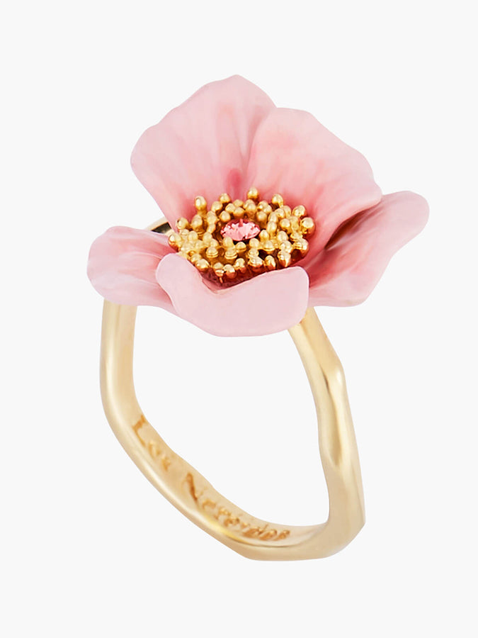 Sweet As A Rose Blooming Roses Adustable Ring