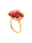 The serpentine Solitaire Ring - Red