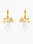 Les Néréides Loves Animals Kitty and Bow Dormeuses Earrings