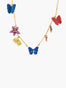 Magnificient Mayflies Ulysses Butterfly And Australian Flowers Long Necklace
