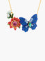 Magnificient Mayflies Ulysses Butterfly And Australian Flowers Pendant Necklace