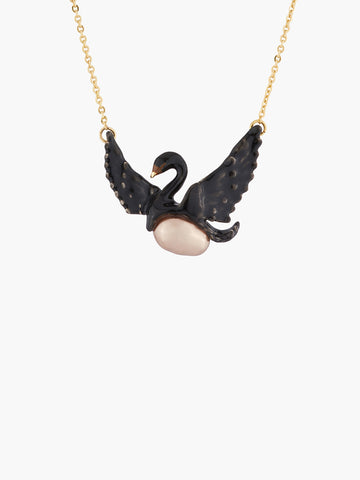 Flying Swan and Baroque Pearl Necklace