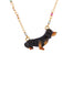 Les Néréides Loves Animals Dachshund and Little Beads Necklace