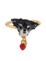 Les Nereides Loves Animals Little Chihuahua Ajustable Ring