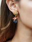 Coral Set Coral and Blue Lagoon Crystal Stud Earrings Alternate View