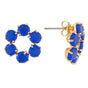La Diamantine 6 Stones Small Hoops Stud Earrings Alternate View