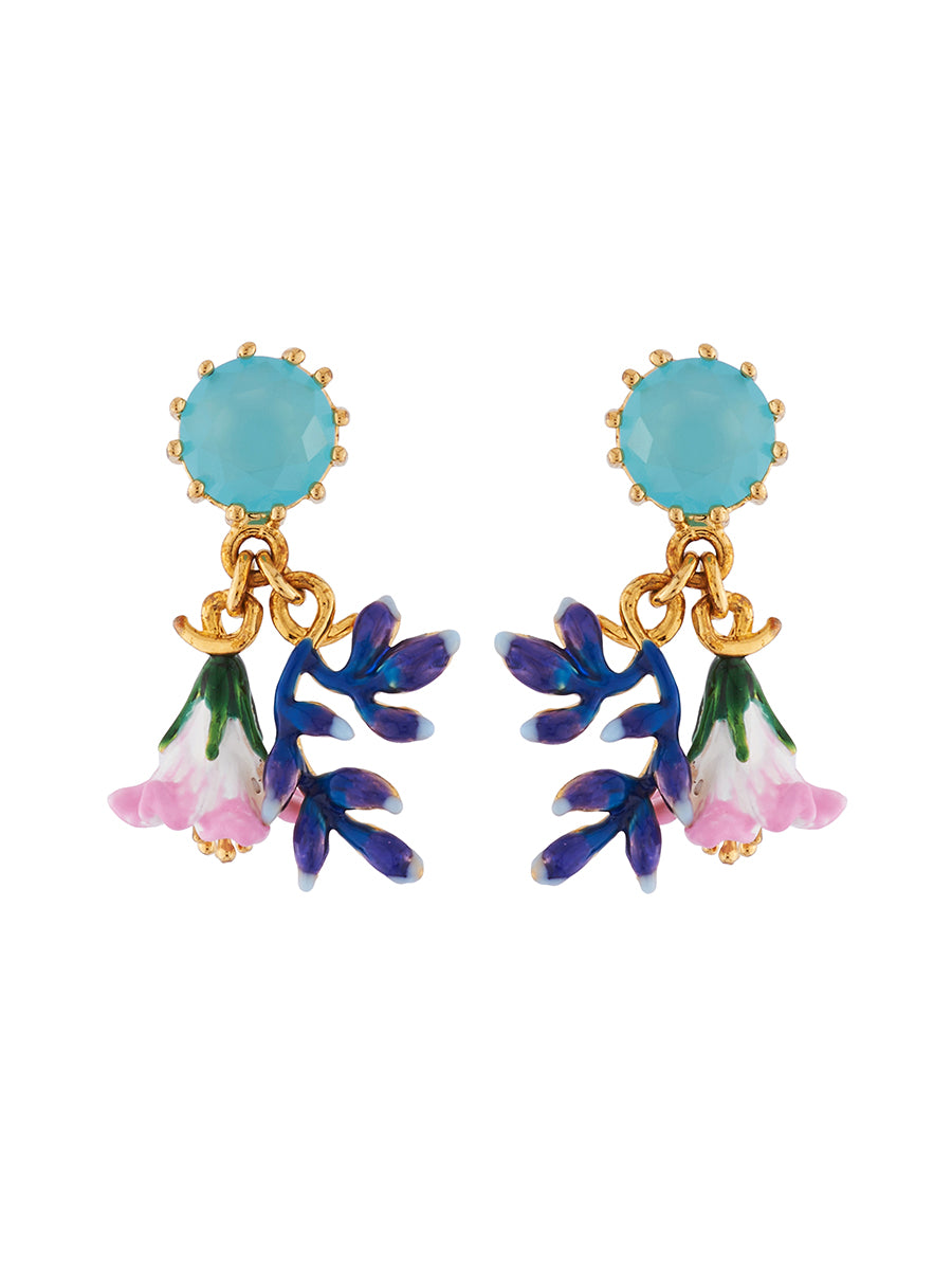 Mysterious garden faceted glass with pink and blue flowers earrings mysterious garden faceted glass with pink and blue flowers earrings zoomed image izmirmasajfo