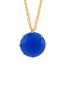 La Dimantine Blue Heart Stone Pendant Necklace