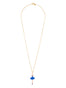 Luxury Pas De Deux Blue Rhinestone Ballerina Pendant Necklace Alternate View