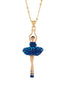 Luxury Pas de Deux Ballerina Aurora Blue Crystals Necklace