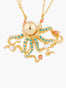 Sea Bottom Octopus Double Chain Long Necklace