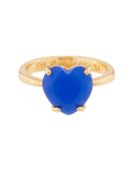 La Diamantine Blue Heart Stone Ring - Blue