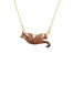 Luxuriant Canopy Wild ocelot long necklace