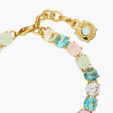 La Diamantine Acqua Azzura Stones Luxurious one row Bracelet