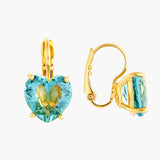 La Diamantine Acqua Azzura Heart Sleeper Earrings