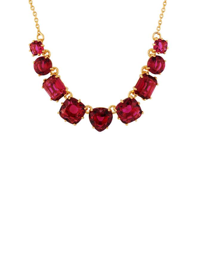 La Diamantine 9 Grenadine Stones Necklace