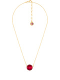 La Diamantine Grenadine Round Stone Necklace