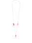 Pas de Deux Grenadine Pink Ballerina Long Necklace Alternate View