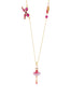 Pas de Deux Grenadine Pink Ballerina Long Necklace