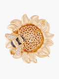 Nectar of the Sun Sunflower and Bumblebee Brooch