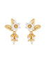 Weekend In Taormina Jasmin clip-on earrings