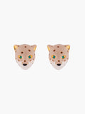 Charming Feline Panther Head Stud Earrings