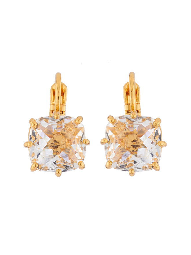 La Diamantine Crystal Square Stone Earrings
