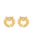 Weekend In Taormina Crown of laurels stud earrings
