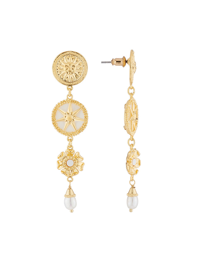 Weekend In Taormina Sun dangling stud earrings Alternate View